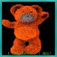 A Happy Teddy Bear Dancing.