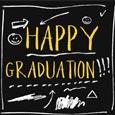 Happy Graduation Sketch Chalkboard.