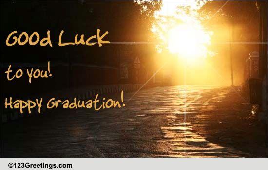 good luck on graduation  free good luck ecards  greeting