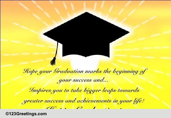 graduation encouragement wish  free encouragement  u0026 inspiration ecards