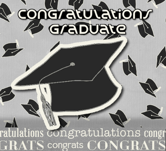 Congratulations Graduate With Caps.