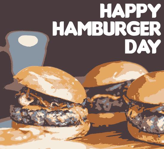 happy hamburger day card  free hamburger day ecards