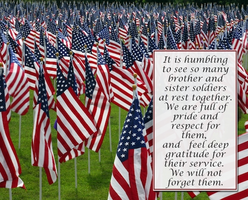 With Deepest Gratitude We Remember.
