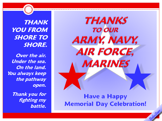 Thanks To Our Armed Services.