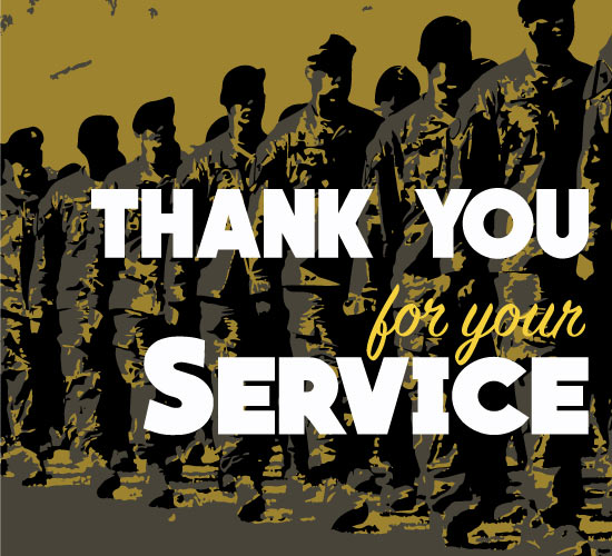 thank you for your army service  free thank you ecards