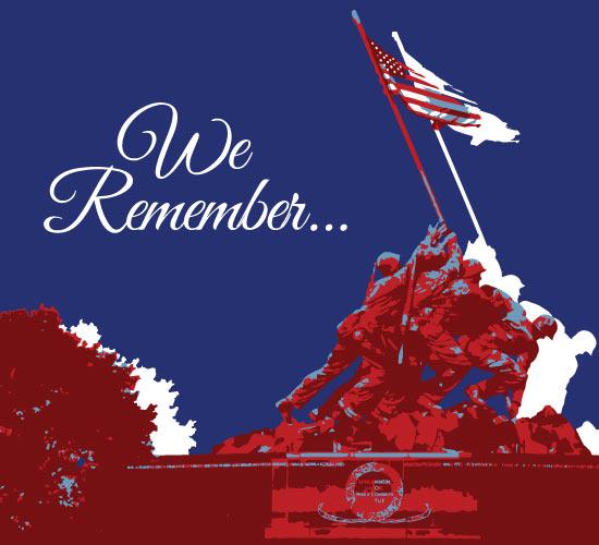 Memorial Day Tribute Card.