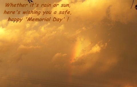 Memorial Day Rainbow Wishes.
