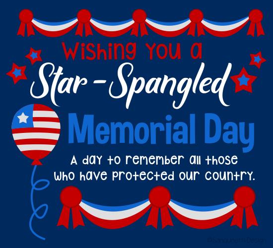 Star Spangled Memorial Day Wish.