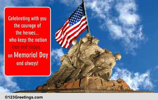 memorial day patriotic wish    free wishes ecards