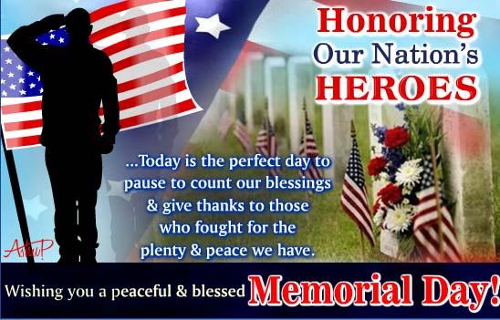 Send Memorial Day Ecard!