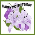 Mother's Day With Purple Flowers.