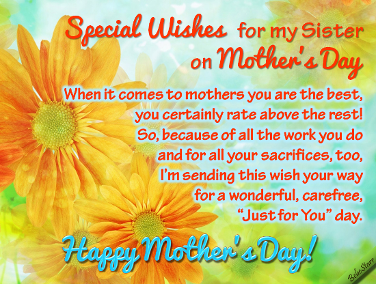 Special wishes to my sister free family ecards greeting cards special wishes to my sister m4hsunfo