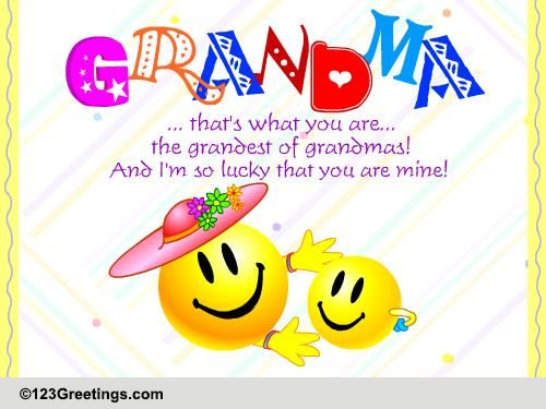 For You Grandma Free Family eCards Greeting Cards – Birthday Card for Grandma