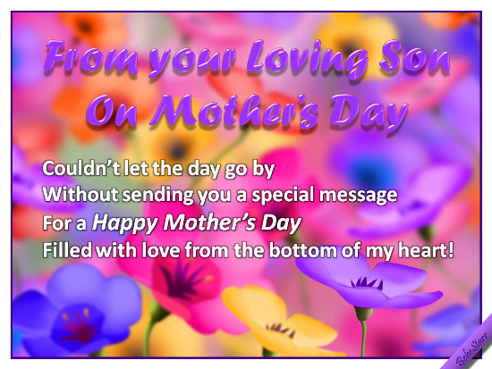From Your Loving Son.