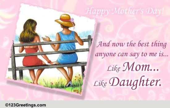 like mom like daughter  free happy mother u0026 39 s day ecards  greeting cards