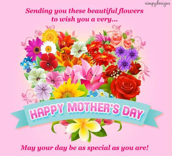 Beautiful Flowers On Mother's Day... Free Happy Mother's