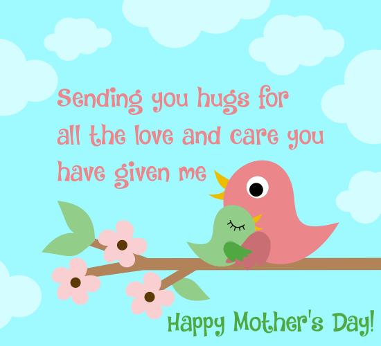 Big Hugs For Mom.