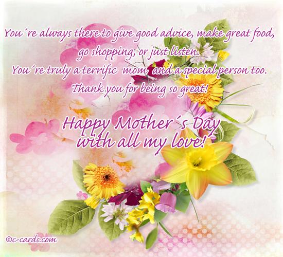 Terrific Moms Day.