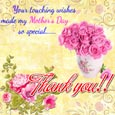 Thank You For Mother's Day Wishes.