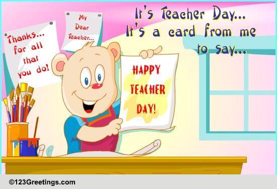 Teachers Day Invitation Card Matter with amazing invitations design