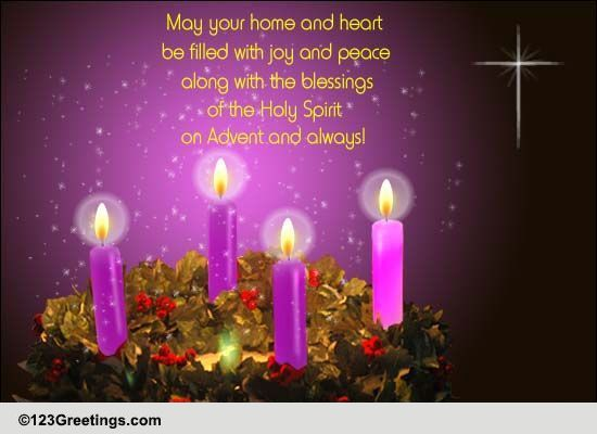 blessings of the holy spirit  free advent ecards  greeting