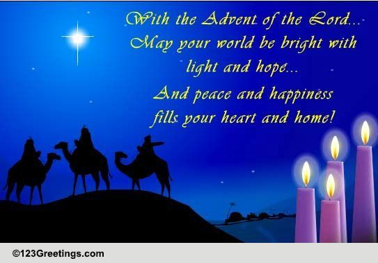 The Advent Of The Lord... Free Advent eCards, Greeting Cards | 123 ...