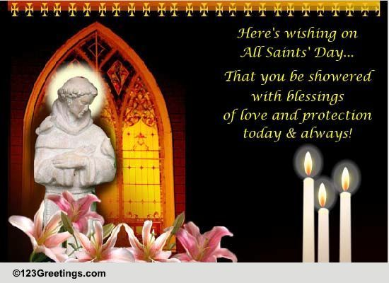 Warm wish on all saints day free all saints day ecards 123 warm wish on all saints day free all saints day ecards 123 greetings m4hsunfo