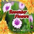 November Flowers Ecard For You.