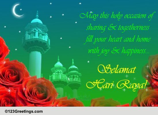 ... & Happiness... Free Hari Raya eCards, Greeting Cards | 123 Greetings