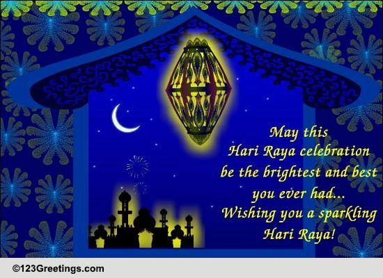 Sparkling Hari Raya Celebrations... Free Hari Raya eCards | 123 Greetings