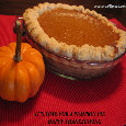 A Sweet Pumpkin Pie For Thanksgiving.