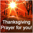 Thanksgiving Prayer For You!