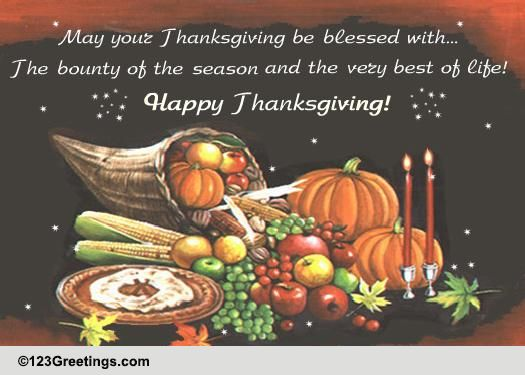 happy thanksgiving wishes  free dinner ecards  greeting