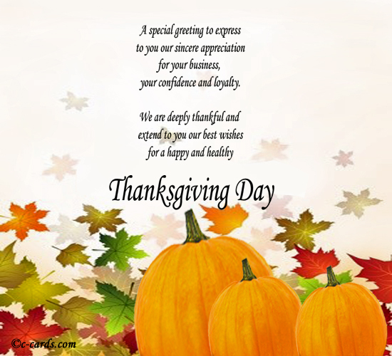 Customers and business thanks free business greetings ecards 123 thanksgiving is the right day to send your business partners and customers a note of appreciation m4hsunfo