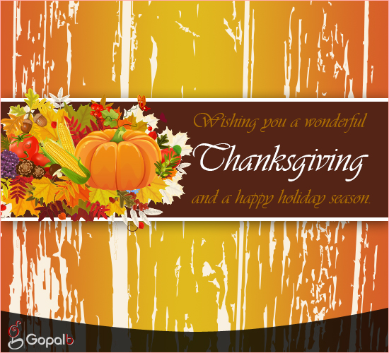 A Warm Business Thanksgiving Wishes! Free Business ...