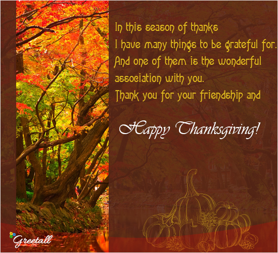 In This Season Of Thanks...