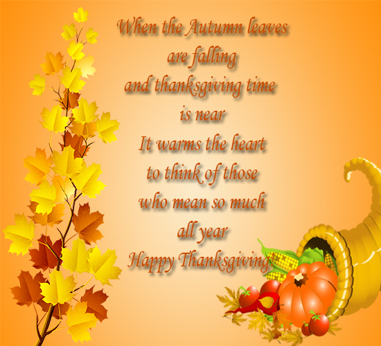 Thanksgiving & Wishes... Free Friends ECards, Greeting
