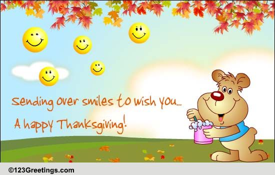 thanksgiving smileys  free friends ecards  greeting cards