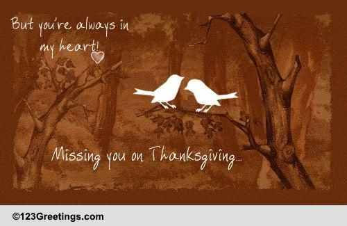 miles apart on thanksgiving  free miss you ecards