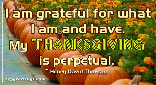A Grateful Thanksgiving.