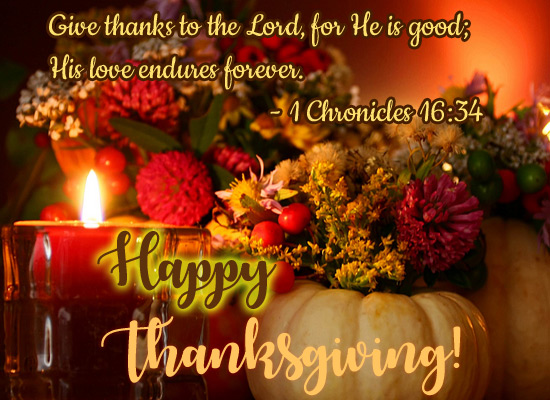 Give Thanks To The Lord...