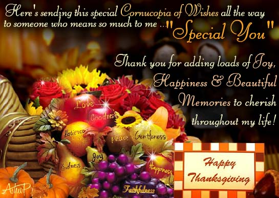 Free Happy Thanksgiving Ecards >> Special Thanksgiving Wishes! Free Specials eCards, Greeting Cards | 123 Greetings