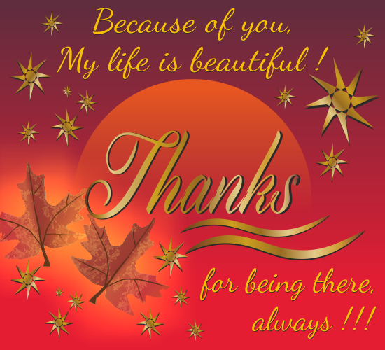 Thanks for being there free thank you ecards greeting cards 123 thanks for being there m4hsunfo