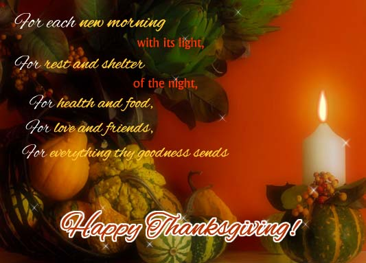 for health and food    free happy thanksgiving ecards