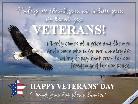 We Salute Our Men And Women. Free Veterans Day eCards, Greeting ...