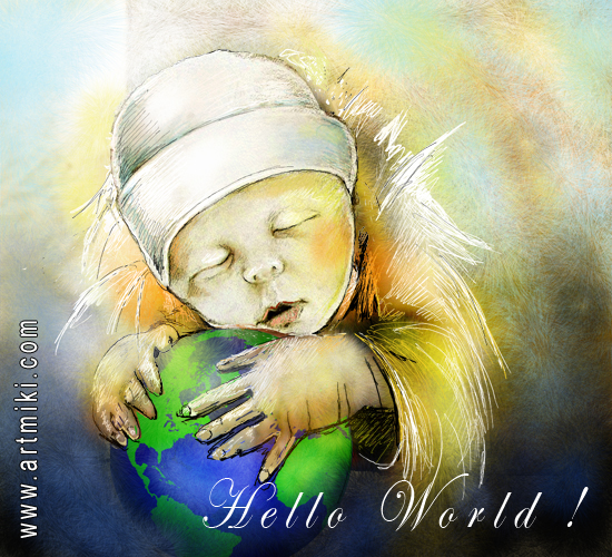 Baby Holding The World.