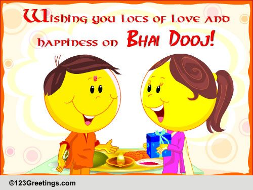 Love and happiness free bhai dooj ecards greeting cards 123 free bhai dooj ecards greeting cards 123 greetings m4hsunfo