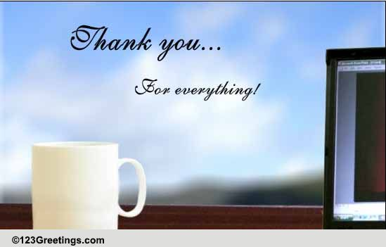 a thoughtful boss u0026 39 s day thank you    free thank you ecards