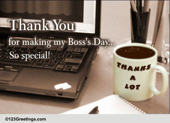 saying thank you on boss u0026 39 s day  free thank you ecards