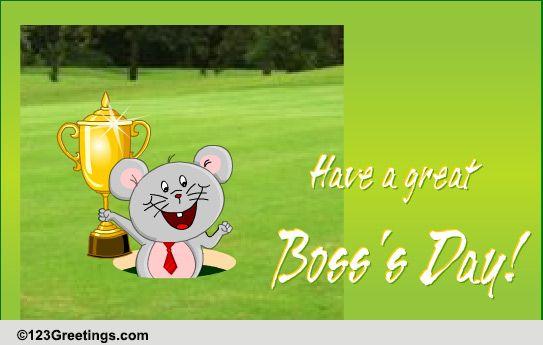 Happy Boss Day Free Ecards